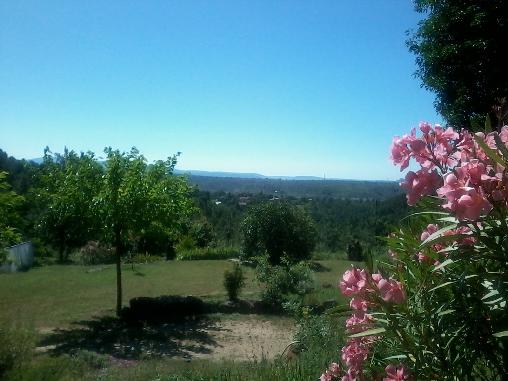 Chambre d'hote Ardèche - vue depuis la terrasse. Les Perles de Aime