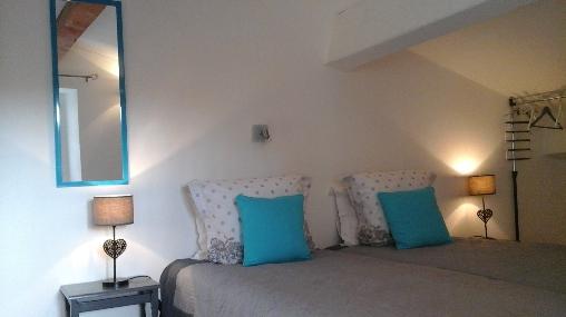 Chambre d'hote Ardèche - Chambre Turquoise. Les Perles de Aime