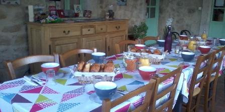 Chambres d'Hôtes Les Perles de Aime Table petit-déjeuner. Les Perles de Aime