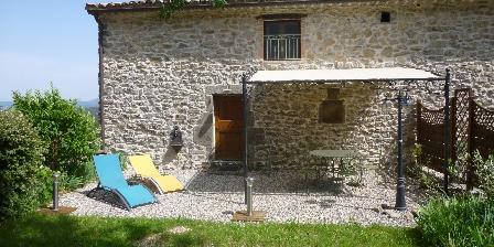Mas de Valz, gîte La Grive Terrasse du gîte