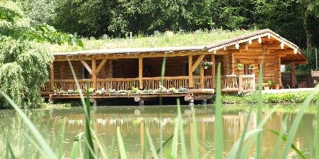 Gîte La Maison Forestière La maisoon en rondins et son toit fleuri