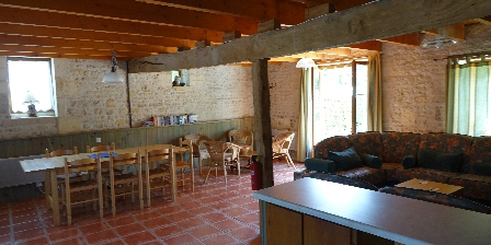 Les Landes Vacances Le Tournesol open plan ground floor