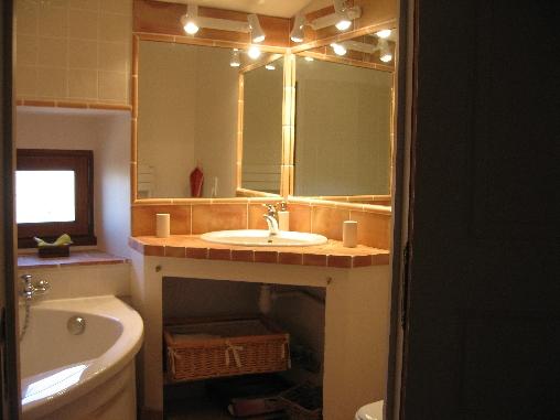 Chambre d'hote Gard - salle de bain,micocoulier