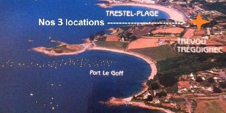 Vue Exceptionnelle Plage de Trestel Près Perros-guirec Nos locations à 50m de la plage de Trestel