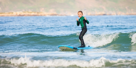 Vue Exceptionnelle Plage de Trestel Près Perros-guirec Cours de surf