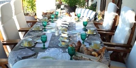 Domaine de La Botterie Table petit déjeuner