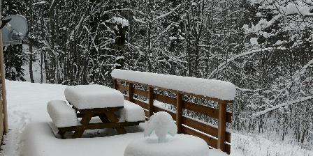 Le Chat Botté La terrasse sous la neige