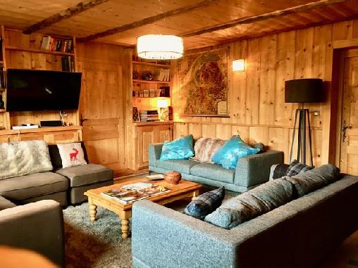 Chambre d'hote Haute-Savoie - salon au coin du feu