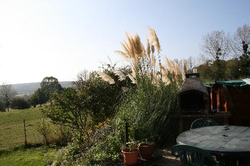 Chambre d'hote Orne - vue de la terrasse