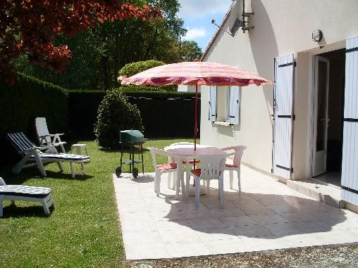 Chambre d'hote Charente-Maritime - terrasse et parking privé