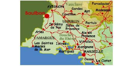 Gîte du Cigalon en Provence Carte