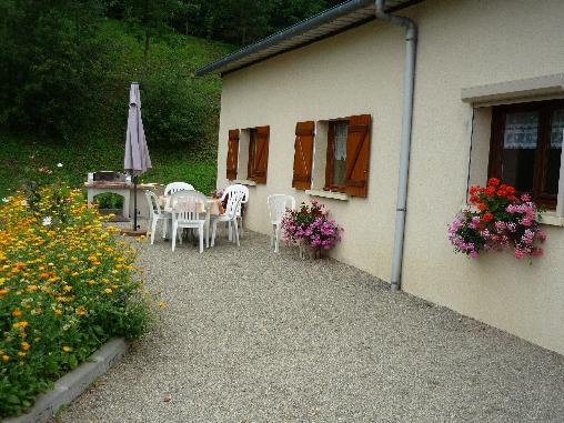 Chambre d'hote Ardennes - terrasse du gite
