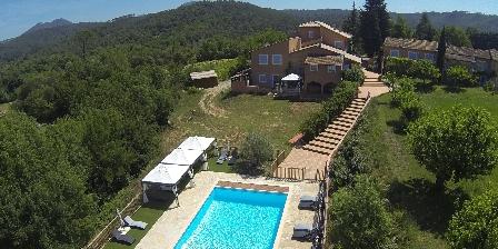 Gîte des Olives 4 étoiles en Provence Vue aérienne