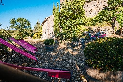 les jardins roc sur l'orbieu maison le four à pain Carcassonne
