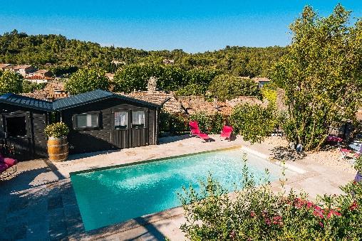 piscine le roc sur l'orbieu maison le four à pain Carcassonne