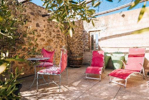 terrasse le roc sur l'orbieu maison le four à pain Carcassonne