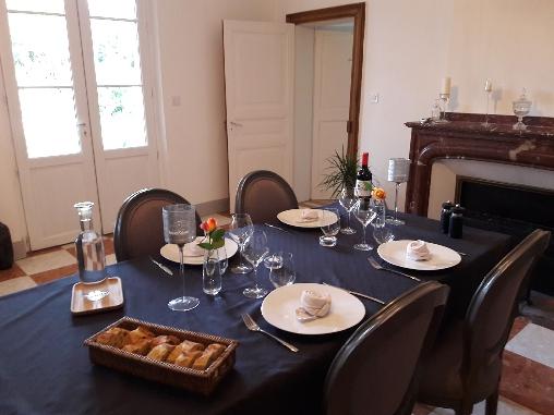 bed & breakfast Tarn-et-Garonne - Refines dinner at the table d'hotes