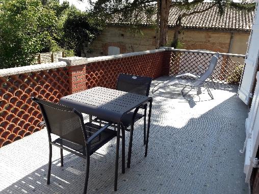 Terrasse privative suite Feu