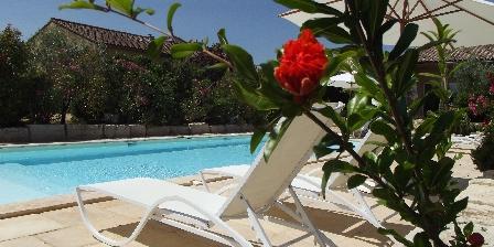 Location Saisonnière Les Mazets d'Aiguèze Détente autour de la piscine