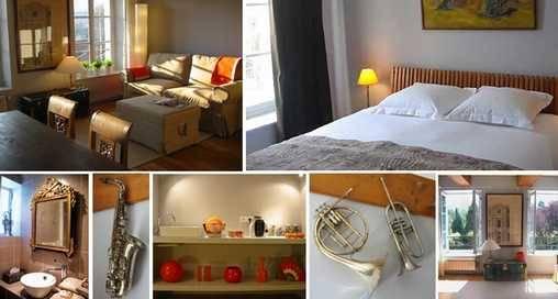 Chambre d'hote Rhône - Suite 1 :Le salon de musique