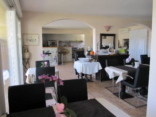 bed & breakfast Alpes Maritimes - dinner at home