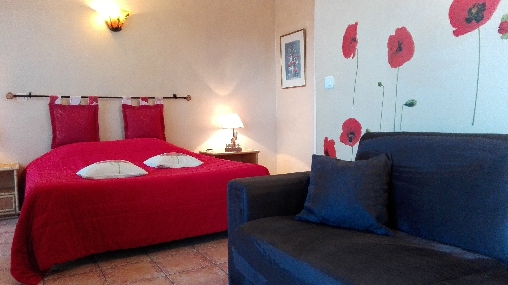 bed & breakfast Alpes Maritimes - coquelicot room