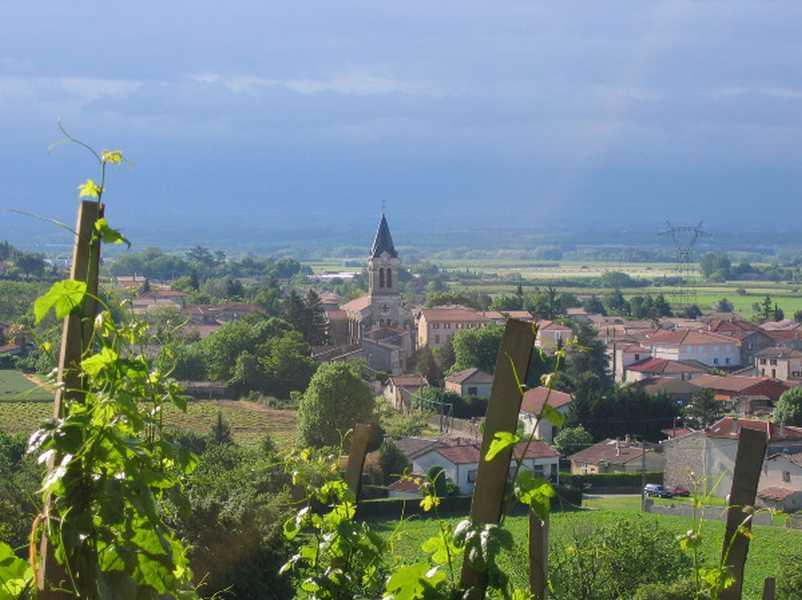 Chambre d'hote Drôme - La vue sur Chanos Curson