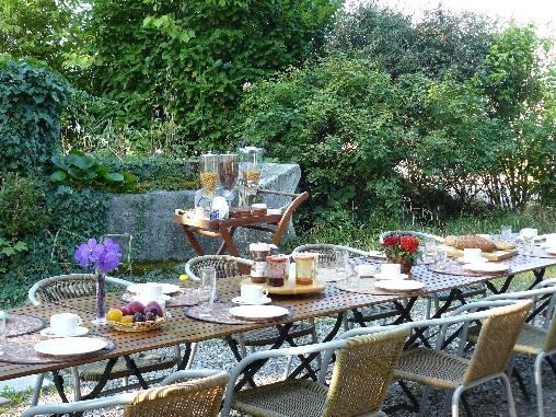 Chambre d'hote Haute-Savoie - Petit déjeuner été