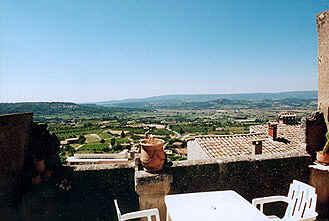 Chambre d'hote Vaucluse - Vue de la terrasse privée