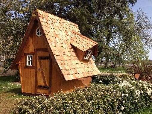 Le drôle d'abri de jardin du Domaine des Gauliers