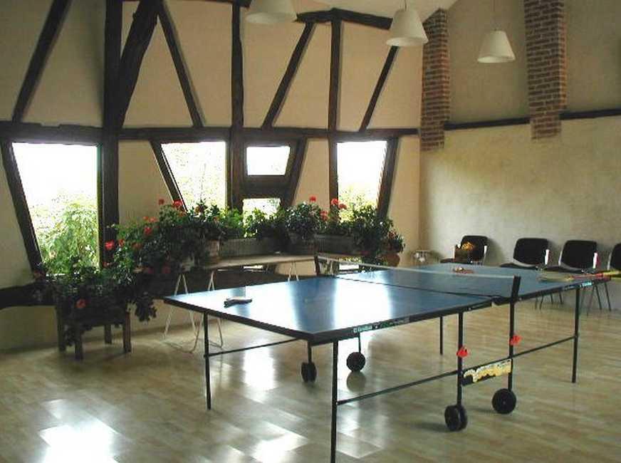 Chambre d'hote Ain - La salle de jeux