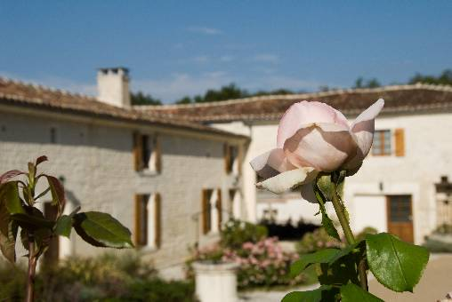 bed & breakfast Charente - La Malle Poste - the lounge and its fireplace