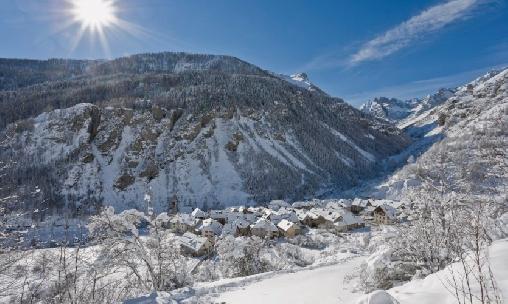Saint Dalmas le Selvage en hiver