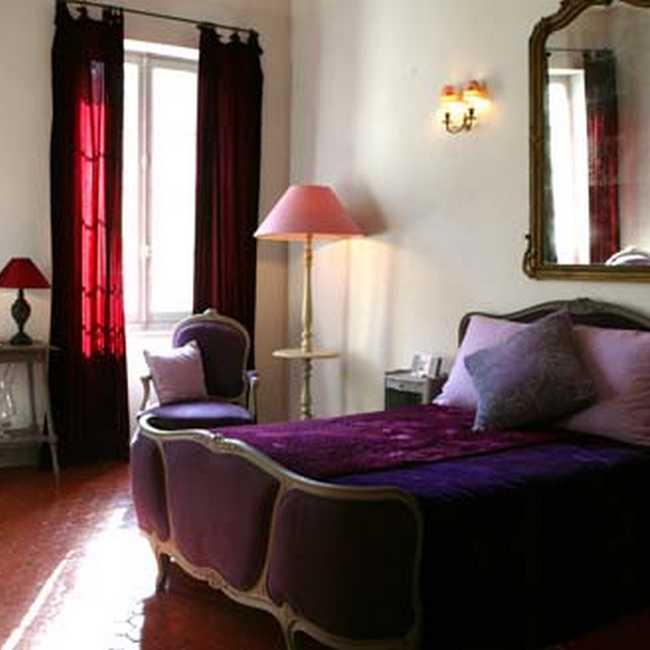 Chambre d'hote Bouches du Rhône - Vue de la suite Violette