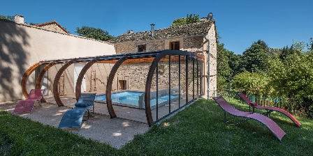 Domaine de Malouzies Private, covered and heated pool of the cottage La Citadelle