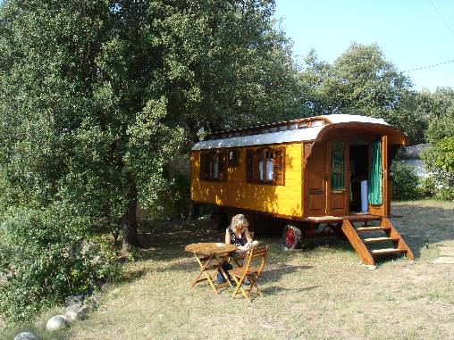Chambre d'hote Ardèche - la roulotte