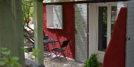 Les Mayombes La terrasse de la chambre Orchidée