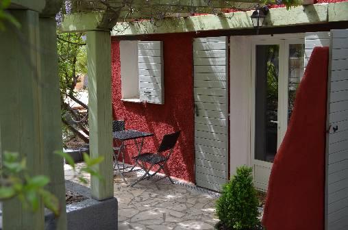 La terrasse de la chambre Orchidée