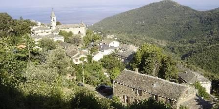 Medori Au 1er plan la maison dans le village de FIGARELLA