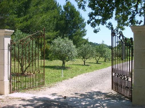 Chambre d'hote Var - Le portail d'entrée