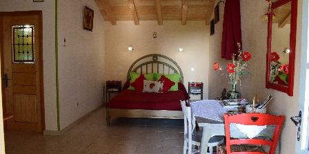 Moulin du Treuil La chambre des coquelicots