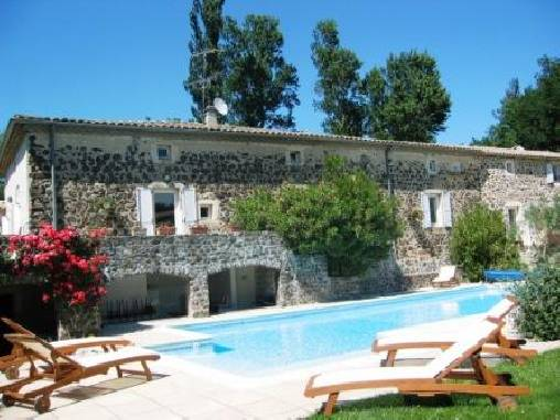 Bed & breakfasts Ardèche, from 70 €/Nuit. House of character, Saint Vincent de Barrès (07210 Ardèche), Charm, Guest Table, Swimming Pool, Garden, Park, Net, WiFi, Baby Kits, 3 Double Bedroom(s), 2 Suite(s), 1 Childrens Be...