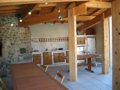 Chambre d'hote Ardèche - Cuisine d'été