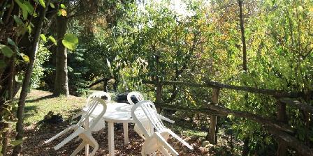 La Maréchalerie Une terrasse sous les arbres