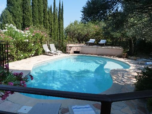 Chambre d'hote Var - La piscine, aux heures chaudes