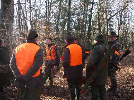 Journée de chasse en Sologne.