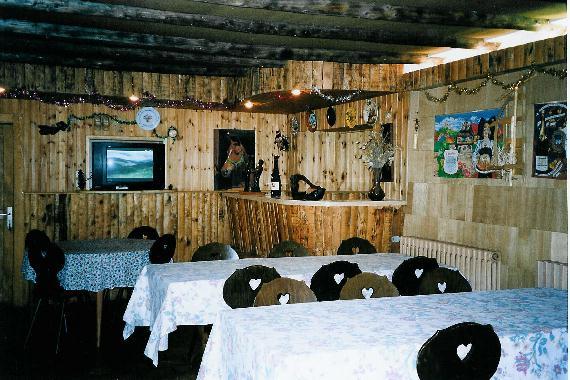Chambre d'hote Vosges - La salle commune rustique