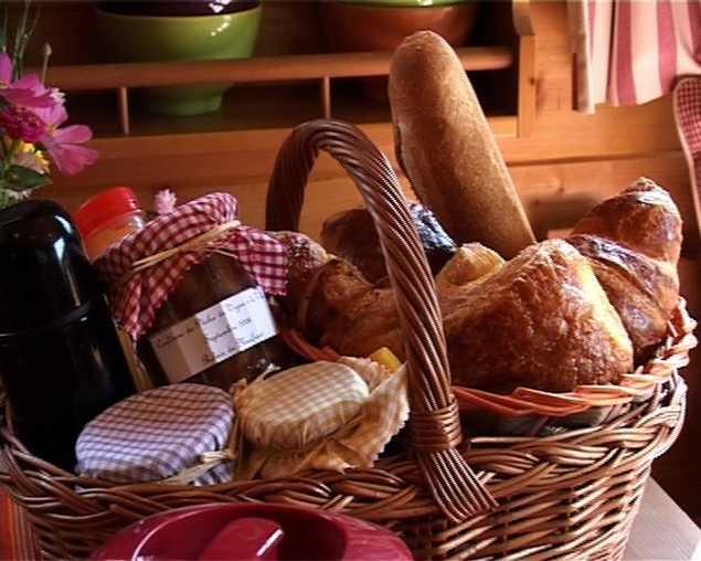 Chambre d'hote Nièvre - Le panier petit déjeuner