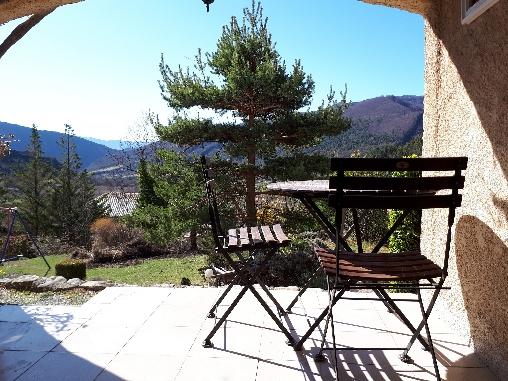 bed & breakfast Alpes de Haute Provence - terrasse