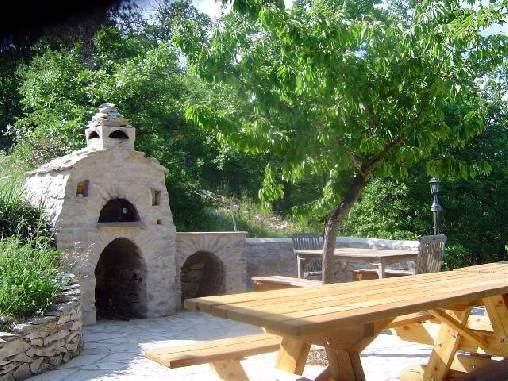 La terrasse des dîners et petits déjeuners d'été